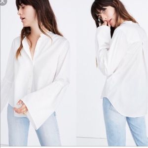 White Madewell bell sleeve button down size L